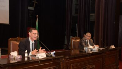 Photo of د. وجدي زين الدين خلال معسكر قادة المستقبل بجامعة القاهرة: